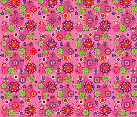 Flowers Lilapink mini fabric by hamburgerliebe on Spoonflower - custom fabric