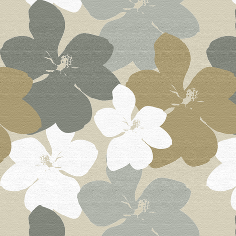 Magnolia Little Gem - Linen Texture fabric by kristopherk on Spoonflower - custom fabric