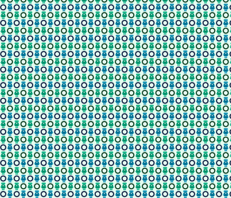 Robot and Gear - Blue - Small fabric by jesseesuem on Spoonflower - custom fabric
