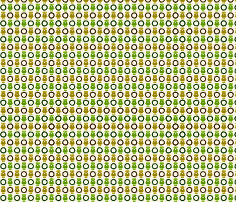 Robot and Gear - Neutral - Small fabric by jesseesuem on Spoonflower - custom fabric