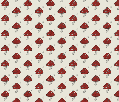 toadstool3 fabric by emmyupholstery on Spoonflower - custom fabric