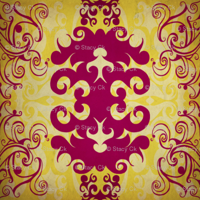 SCK - Spring Damask Antiqued