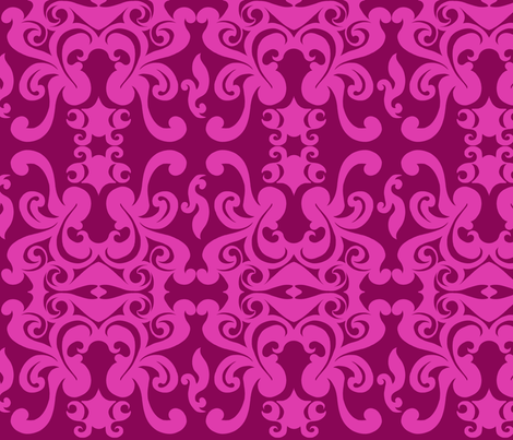 SCK - Pink on Pink Damask fabric by stacyck on Spoonflower - custom fabric