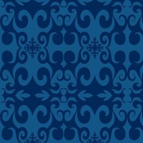 SCK - Blue on Blue Damask