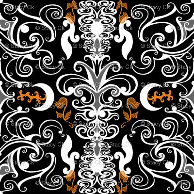 SCK - Halloween Colors Damask