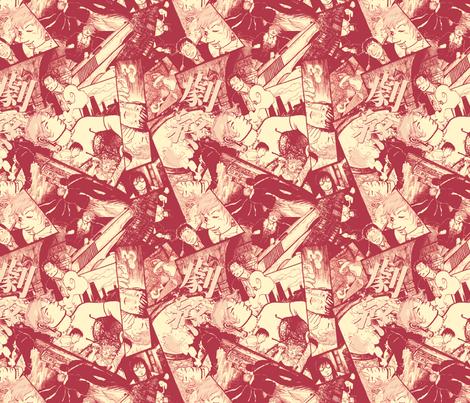 Eva Red Wine  fabric by tinet on Spoonflower - custom fabric