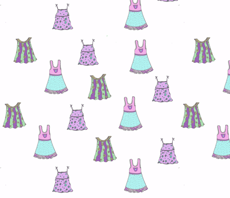 little_dresses pastel fabric by sequingirlie on Spoonflower - custom fabric