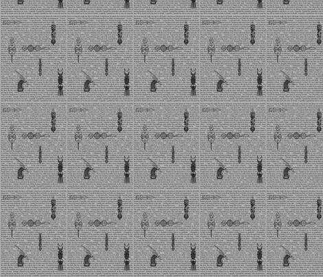 African Proverbs BLACK-101 fabric by kkitwana on Spoonflower - custom fabric