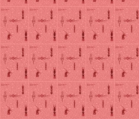 African Proverbs RED-102 fabric by kkitwana on Spoonflower - custom fabric