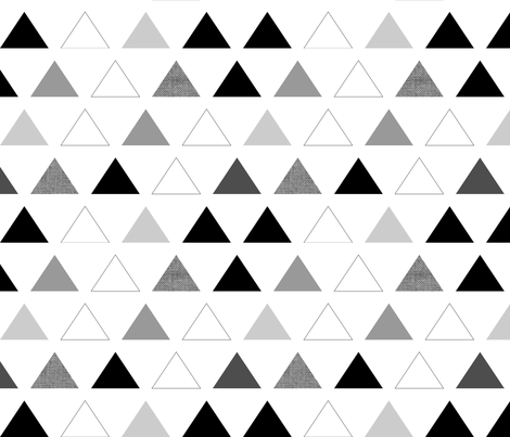 Black & White Triangles fabric by mrshervi on Spoonflower - custom fabric