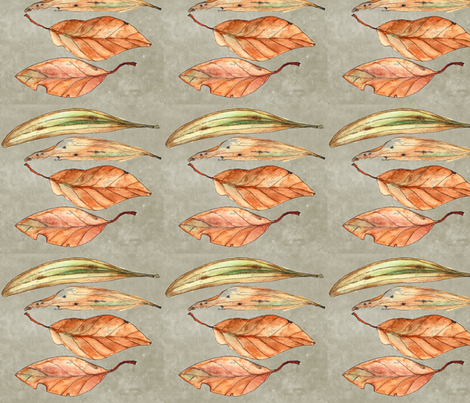 Australian Leaves fabric by wiccked on Spoonflower - custom fabric