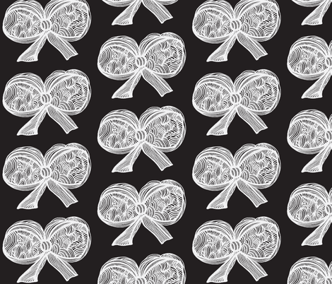 JamJax white on blk fabric by jamjax on Spoonflower - custom fabric
