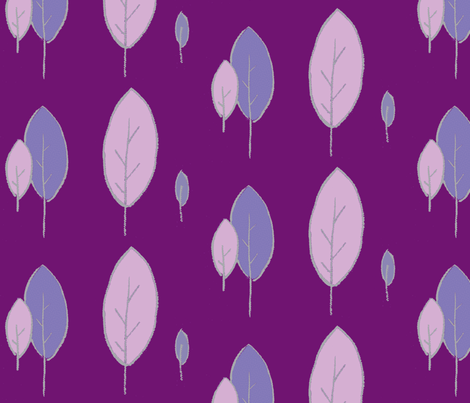 Purple Trees fabric by chirp! on Spoonflower - custom fabric