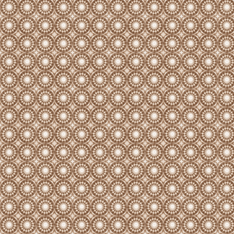 Sepia Flower Stars fabric by kristopherk on Spoonflower - custom fabric