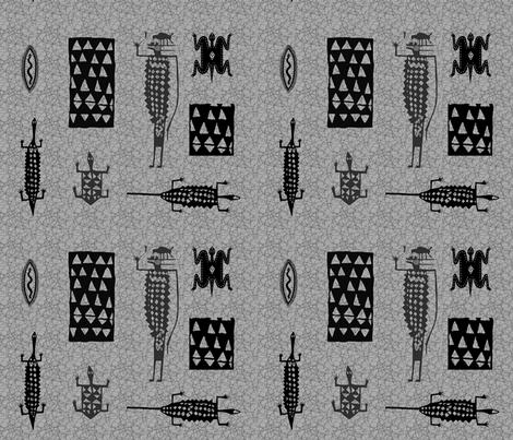 Tribal Paths-106 fabric by kkitwana on Spoonflower - custom fabric