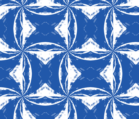 bluewhite_pinwheel_Picnik_collage fabric by khowardquilts on Spoonflower - custom fabric