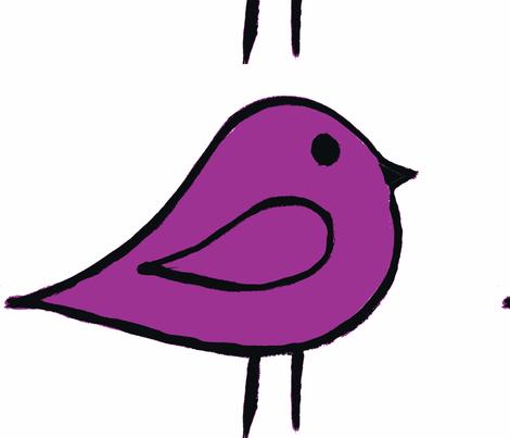 Little Birdie Purple fabric by chirp! on Spoonflower - custom fabric