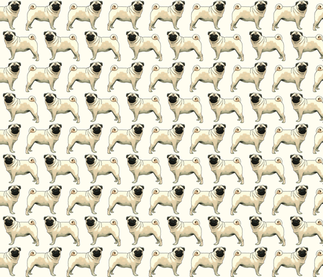 Fawn Pugs fabric by f_mcc on Spoonflower - custom fabric