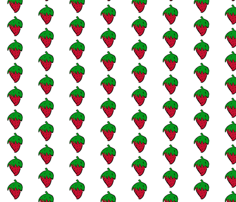 Strawberry fabric by chirp! on Spoonflower - custom fabric