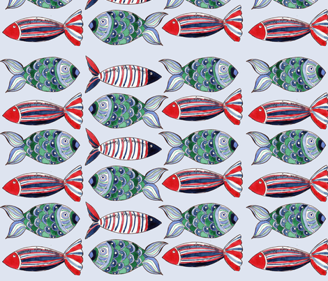 poissons_ribambelle fabric by nadja_petremand on Spoonflower - custom fabric