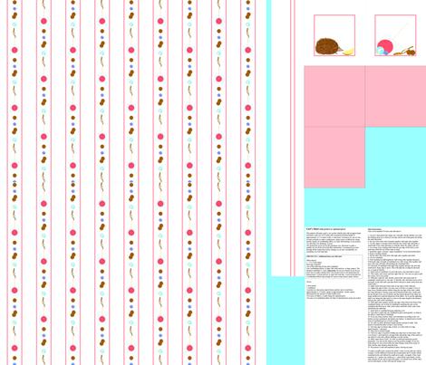 vll_hedgehog_in_my_pocket_skirt_or_sundress_sampler fabric by victorialasher on Spoonflower - custom fabric
