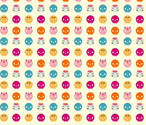 Sugary Sweet Skulls fabric by lasandri on Spoonflower - custom fabric