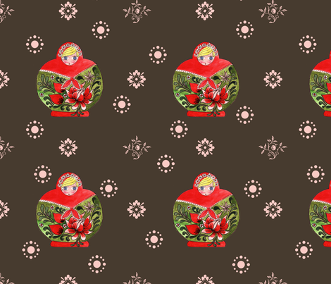 matrioschka_garden fabric by nadja_petremand on Spoonflower - custom fabric
