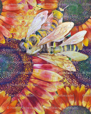 Bees Love Sun Flowers