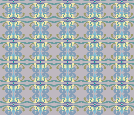 Muted_Turquoise_naples fabric by heh on Spoonflower - custom fabric