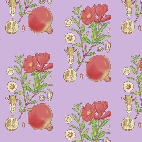 Pomegranate fabric by nalo_hopkinson on Spoonflower - custom fabric