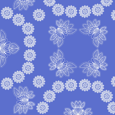 Delft Doily fabric by nalo_hopkinson on Spoonflower - custom fabric