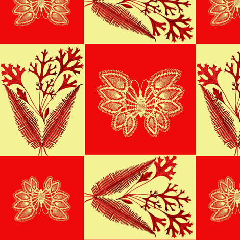Flora Indica fabric by nalo_hopkinson on Spoonflower - custom fabric