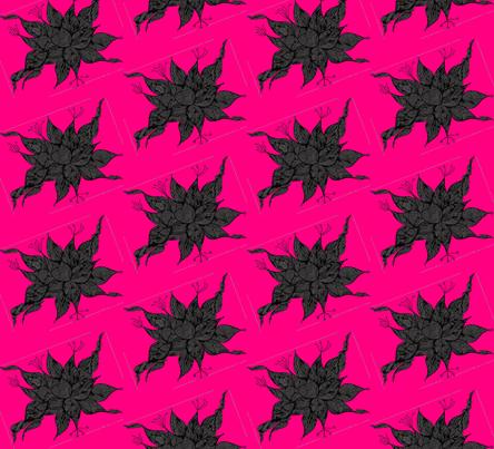 JamJax Pink Black Tilt fabric by jamjax on Spoonflower - custom fabric