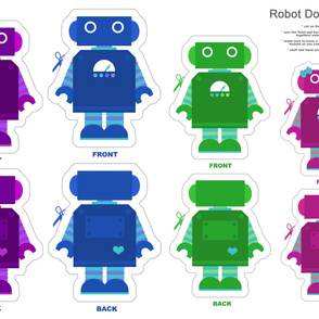 Robot Family Doll Panel
