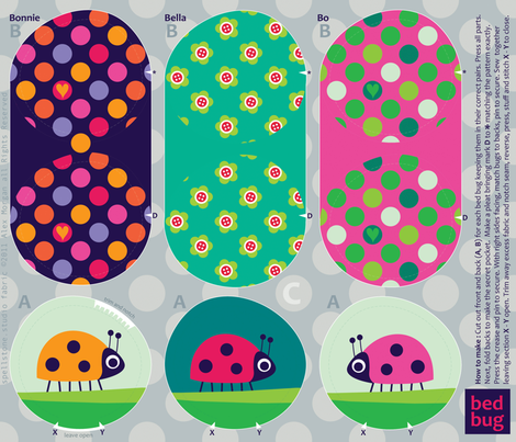 BedBug x fabric by spellstone on Spoonflower - custom fabric