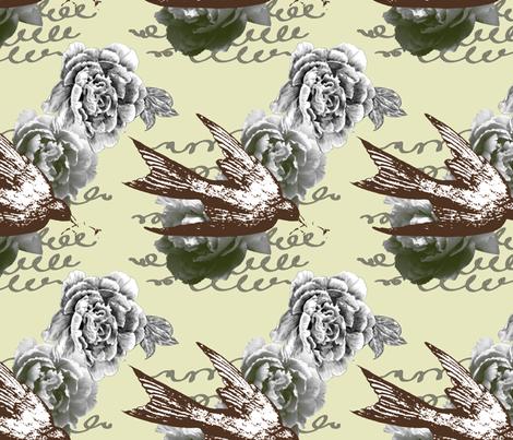 Caroline - Fern Colorway fabric by cary_dingel on Spoonflower - custom fabric