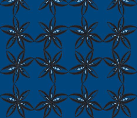 JamJax Blue Peony fabric by jamjax on Spoonflower - custom fabric