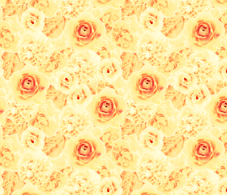 RomanticRoses-Golden fabric by tammikins on Spoonflower - custom fabric