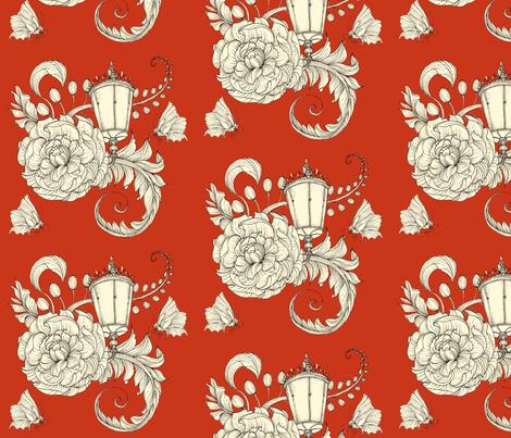 By Lamp Light fabric by tamara on Spoonflower - custom fabric