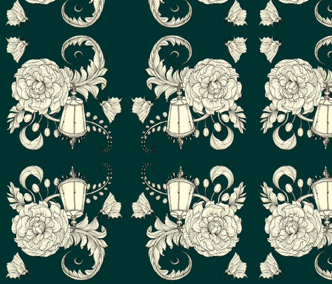 By Lamp Light  fabric by tamara on Spoonflower - custom fabric