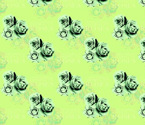 ComingUpRoses-Leafy fabric by tammikins on Spoonflower - custom fabric