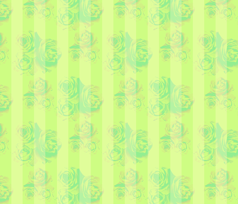 RosyStripes-Leafy fabric by tammikins on Spoonflower - custom fabric