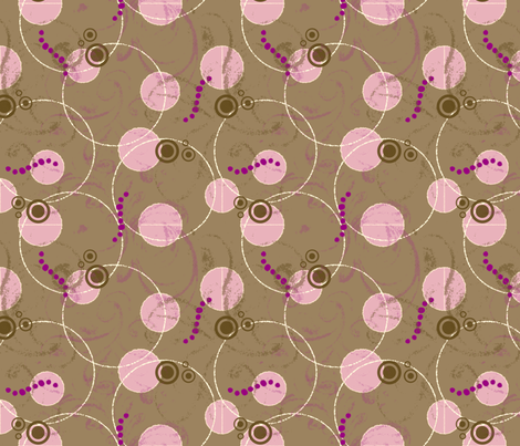 ArtHerstoryDots-Pink fabric by tammikins on Spoonflower - custom fabric