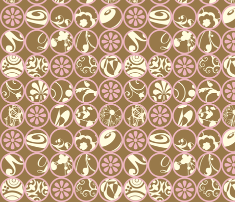 GraphicCircles-Pink fabric by tammikins on Spoonflower - custom fabric