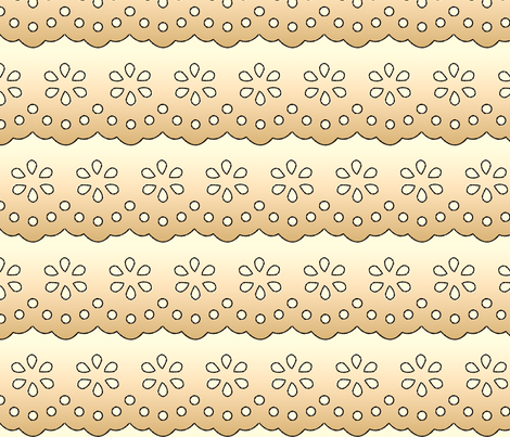 EyeletElegance-TeaStained fabric by tammikins on Spoonflower - custom fabric