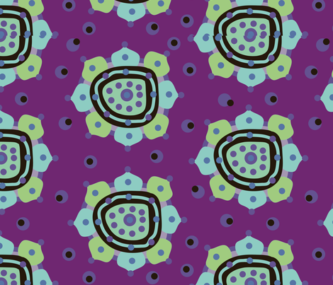 Mandala fabric by linesmith on Spoonflower - custom fabric