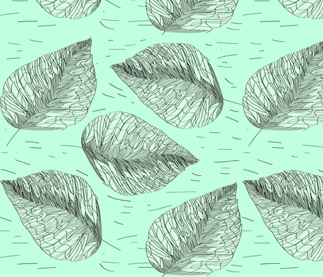 Laluna fabric by linesmith on Spoonflower - custom fabric