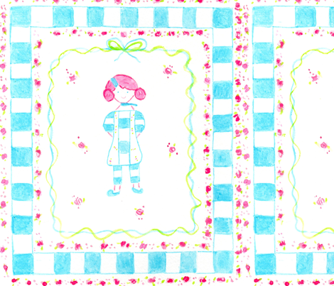 Confindent Sweet whimsical little girl fabric by sweetgirls on Spoonflower - custom fabric