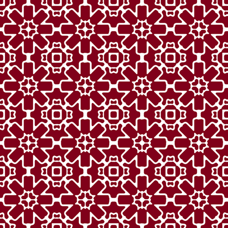 Red Berry Star fabric by kristopherk on Spoonflower - custom fabric