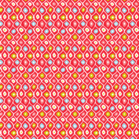 Barnacle Net - Abstract Nautical Geometric Red fabric by heatherdutton on Spoonflower - custom fabric
